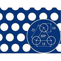 Лист перфорированный  черный с круглыми отверстиями 10*10 шаг  15 толщина 2,0 мм размер 1000*2000 метра от Гос