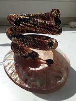 Браслет из бисера гремучая змейка
