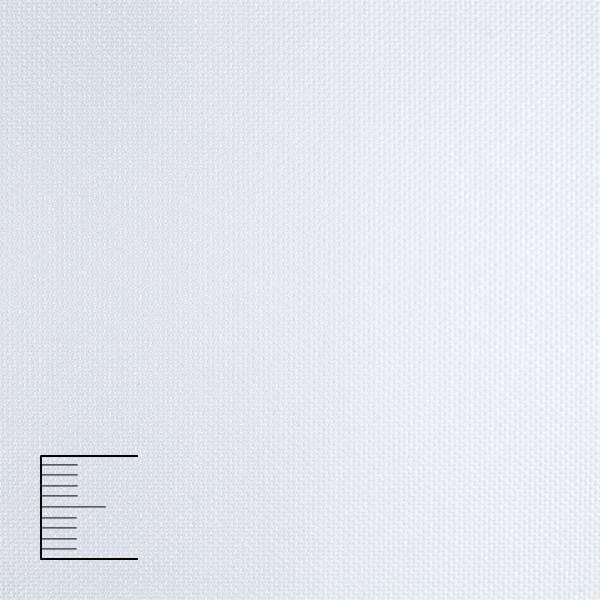 Рулонные шторы Umbra Blackout. Тканевые ролеты Умбра Блэкаут Белый 051, 77.5 см