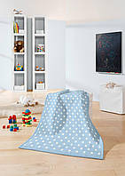 Biederlack Детский плед Lovely&Sweet Dots blue 75*100см