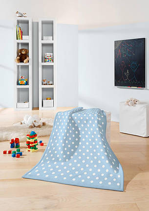 Biederlack Детский плед Lovely&Sweet Dots blue 75*100см, фото 2