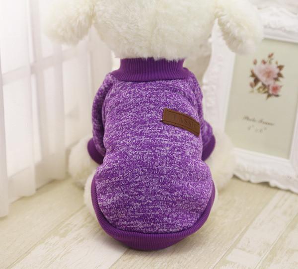 Толстовка - свитер для собак XXL фиолетовая