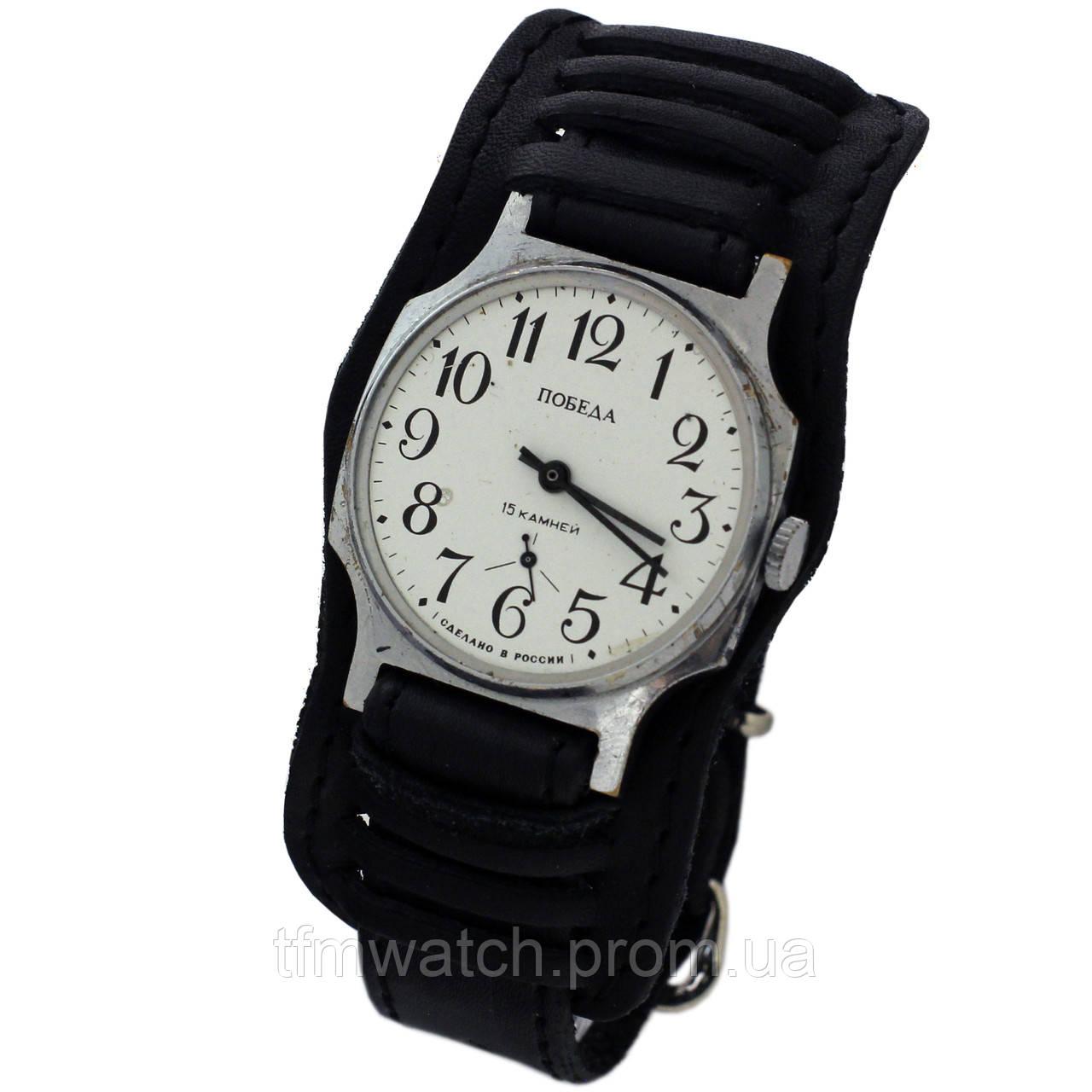 678a7145 Механические часы Победа 15 камней сделано в России - Магазин старинных,  винтажных и антикварных часов