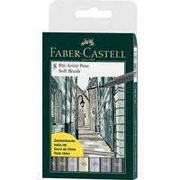 Набор капиллярных ручек Faber-Castell 8 PITT Artist Pens Soft Brush 167808