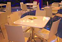 Столы для кафе и ресторанов из искусственного камня