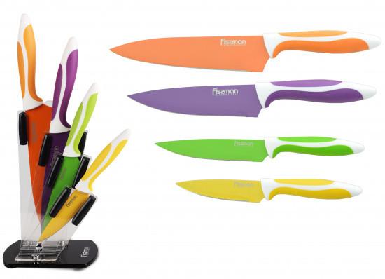 """Набор нержавеющих ножей """"Magellan"""" 5пр. на акриловой подставке Fissman"""