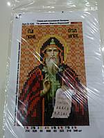 Основа для вышивания бисером, Именная икона, 11 см * 17 см, Св. равноап. Кирилл Моравский
