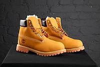 Женские зимние ботинки Timberland Yellow (с мехом), фото 1