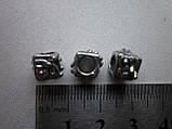 """Бусина металлическая (""""никель""""), фото 2"""