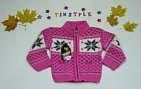 """Красивая вязаная кофта """"Катенька"""" для девочки на 1-3 годика"""