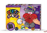 Набор для творчества Creative clock с глиттером Медвежонок, Danko Toys, СС-01-03