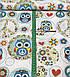 Хлопковая ткань польская совы в голубых кружочках №389, фото 2