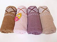 Махровое банное полотенце 140х70см (ромбики Koloco)
