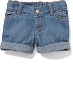 Детские джинсовые шорты с отворотами Old Navy для девочки
