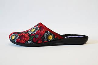 Бордовые женские тапочки Inblu NC-7V, фото 3