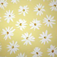 Рулонные шторы Camilla. Тканевые ролеты Ромашки Желтый, 95 см
