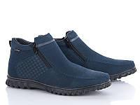Ботинки мужские зимние синего цвета HOLOSO