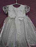 Детское платье нарядное на 3-5 лет белое с серебряным, фото 2