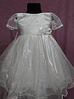 Детское платье нарядное на 3-5 лет белое с серебрянным