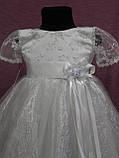 Детское платье нарядное на 3-5 лет белое с серебряным, фото 3