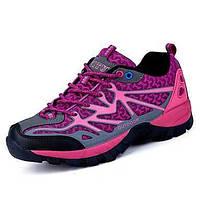Для женщин Спортивная обувь Удобная обувь Ткань Весна Осень Атлетический Для пешеходного туризма Удобная обувь На плоской подошвеЛиловый 05942006