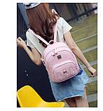 Рюкзак для дівчаток, дівчат Три кота з еко шкіри (рожевий), фото 3