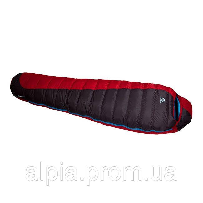 Пуховый спальный мешок Sir Joseph Erratic plus II 850/190/-12°C Red/Blue (Left)