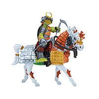 Игровой набор серии ЧЕРЕПАШКИ-НИНДЗЯ САМУРАИ – Экскл. фигурка Микеланджело на лошади, фото 1