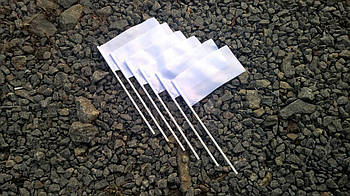 Флажок для сублимации НЕЙЛОНОВЫЙ на пластиковой палочке 10х20см.