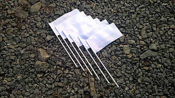 Прапорець для сублімації НЕЙЛОНОВИЙ на пластиковій паличці 10х20см.