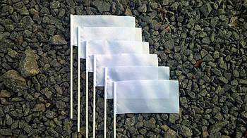 Прапорець для сублімації АТЛАСНИЙ на пластиковій паличці 10х20см.