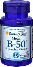 Комплекс B-50, Puritan's Pride Vitamin B-50® Complex 100 Caplets