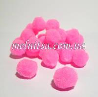 Помпончики, 1,8-2 см , 25 шт., цвет розовый