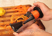 Овощерезка спиральная для овощей Spiral Slicer Спираль Слайсер – терка спираль, фото 5