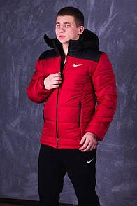 Мужская зимняя куртка (до -20° С) красного цвета с наполнителем Slimtex 200. Код: KZ001/500