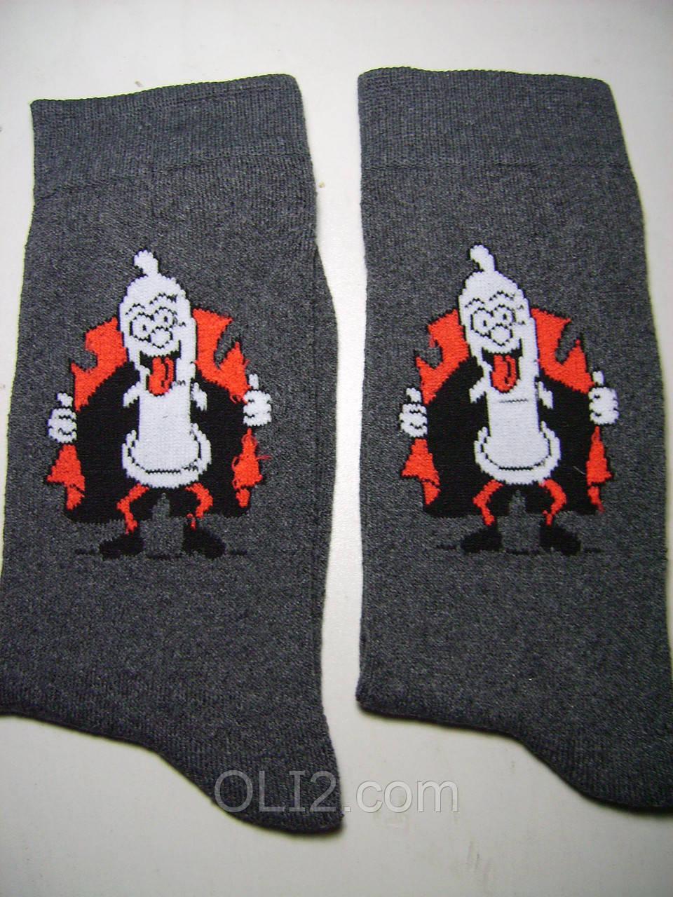 Мужские новогодние носки с приколом теплые
