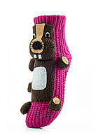 Женские детские носки ATTRACTIVE  3 D игрушка бобер