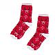 Мужские рождественские новогодние носки с оленями, фото 2