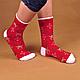 Мужские рождественские новогодние носки с оленями, фото 3