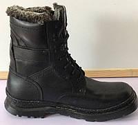 Берцы кожаные зимние на цигейке, мужская обувь зимняя от производителя модель Г1515Б