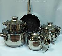 Набор посуды из нержавеющей стали Bohmann BH 1231 MRB 12 предметов