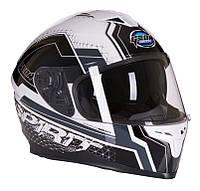 Шлем GEON 967 Интеграл с очками SPIRIT BLACK/WHITE, фото 1