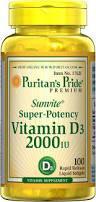 Витамин  Д3, Puritan's Pride Vitamin D3 2000 IU 100 Softgels