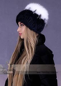 Хутряна шапка з білого песця