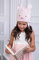 Детская шапка-ушанка для девочки