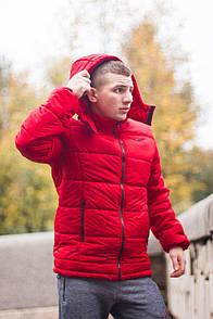 Мужская весенне-осенняя куртка (до -2° С) красного цвета с наполнителем Slimtex 150. Код: КВ002/500