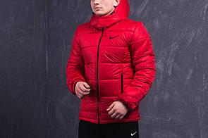 Мужская зимняя куртка (до -20° С) красного цвета с наполнителем Slimtex 200. Код: KZ002/500