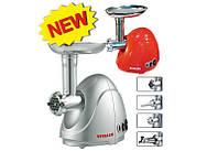 Электромясорубка Vitalex VL-5302 серебристая, мощная мясорубка для кухни, мясорубка электрическая Vitalex