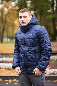 Мужская куртка синего цвета с наполнителем Slimtex 150. Сезон: весна/осень (до -2° С). Код: КВ003/500