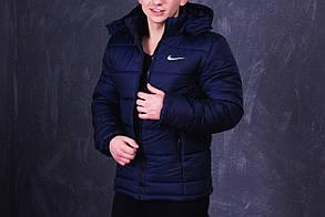 Мужская куртка синего цвета с наполнителем Slimtex 200. Сезон: зима (до -20° С). Код: KZ003/500